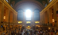 Arrived in Grand Central by train.