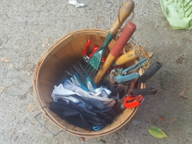 A basket of tools.