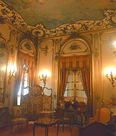 "The parlor in the Vanderbilt Mansion, a little ""jewel box"" of a room."