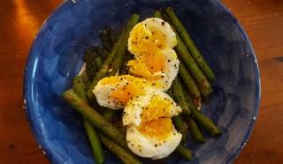 Farm fresh eggs and asparagus!