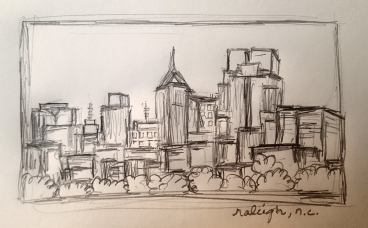 A little sketch of downtown Raleigh.