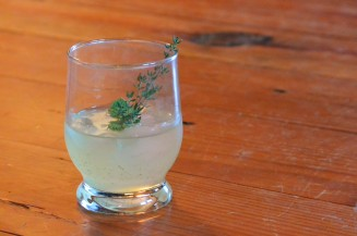 Herb cocktails, this one is called; Roof Garden