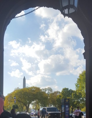 A lovely view of the Washington Monument.
